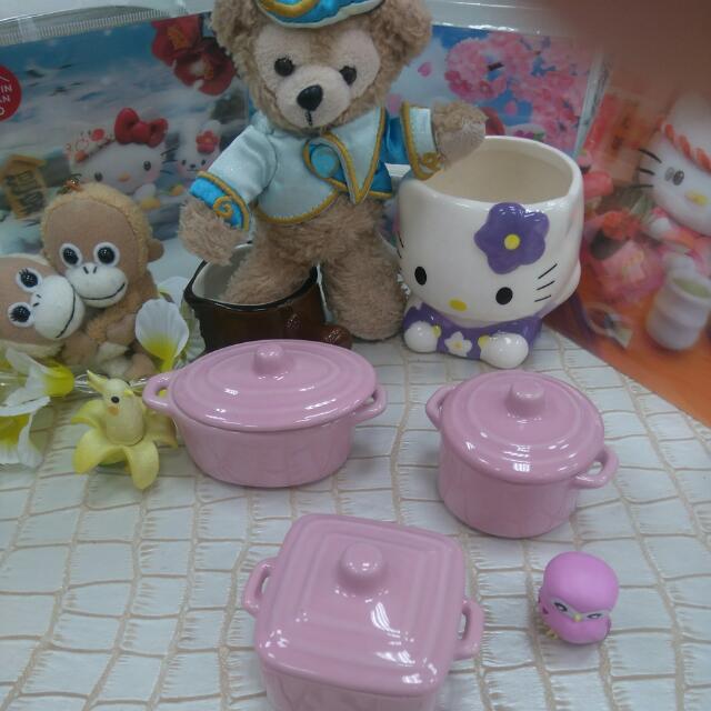 Mini粉色小鍋3入