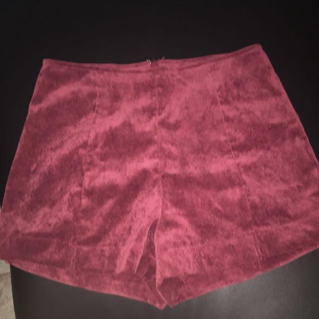 Minkpink High waisted Velvet Shorts