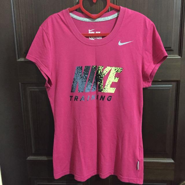 Nike 桃紅tee