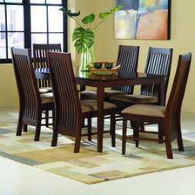 4fbfbfcef6ba Teak Dining Table   Chairs 150 x150 Furniture Singapore Low Price ...