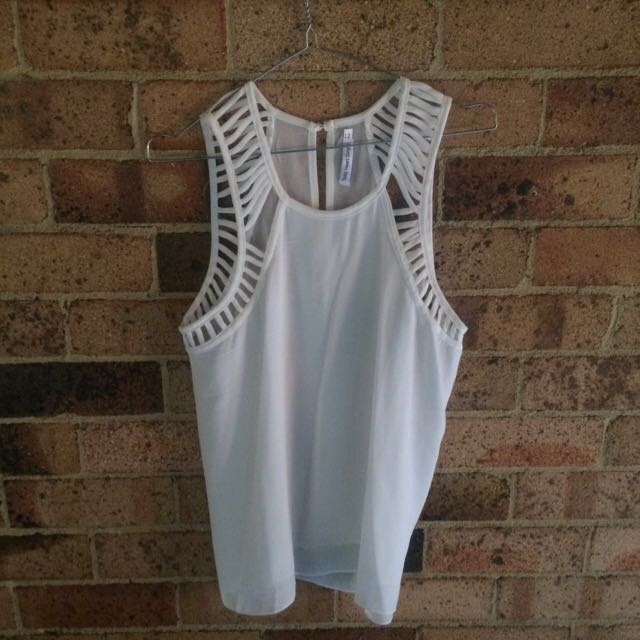 Toby Hearte Ginger Top White Size 12