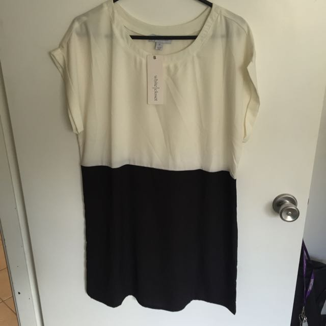 White Closet shift dress