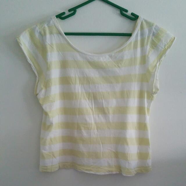 Yellow & White Striped Shirt