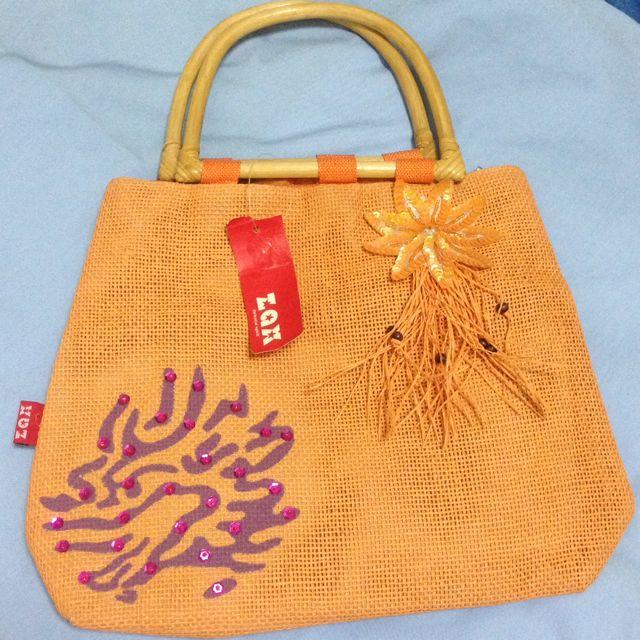 Zax  渡假風 橘色手提袋