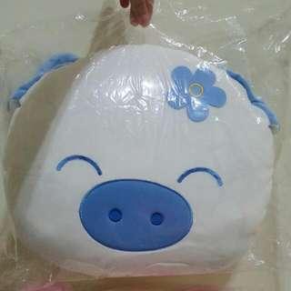 情侶豬抱枕 一對販售 粉紅豬娃娃 粉藍豬 絨毛 枕頭 抱枕 靠腰 睡枕 情侶必備