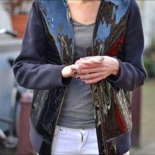Marni X H&M Patent Leather Jacket Size 36