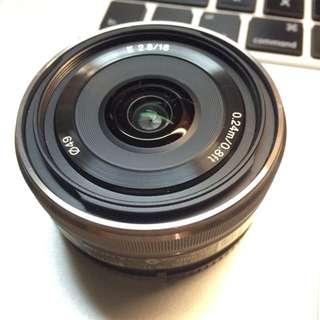SONY E16mm F2.8 SEL16F28 大光圈 定焦鏡 適用E-Mount For NEX NEX-3N NEX-5T