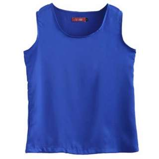 BN Dark Blue Chiffon Sleeveless Top $14