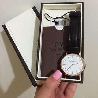 DW 玫瑰金女錶