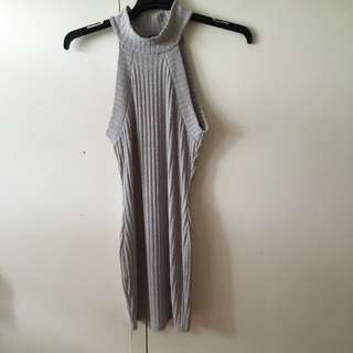 Knitted Hi Neck Dress Or Top