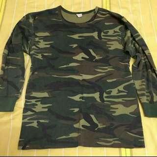 迷彩 長袖  T恤 3 件加迷彩 短袖3件 含運