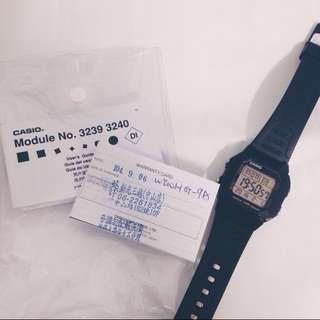 經典CASIO黑錶款(保固內)