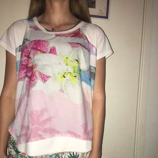 Floral Holiday Top