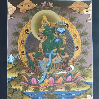 Thang-Ka Painting- Green Tara 唐卡
