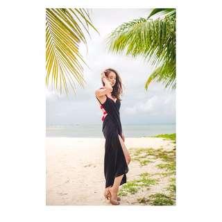 👀《促銷》4/3沙灘度假性感露背連衣長裙