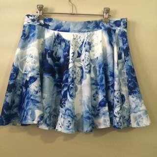 Paper Heart - Blue and White Skirt