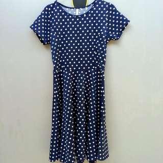 Vintage Polka Navy Dress