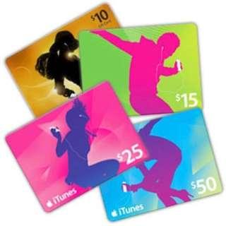 iTunes Gift Card USA $10 $15 $25 $50 $100