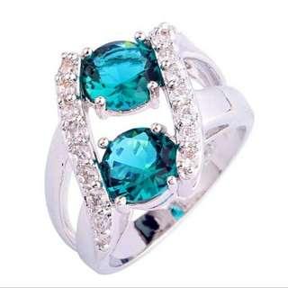 Topaz Silver Ring