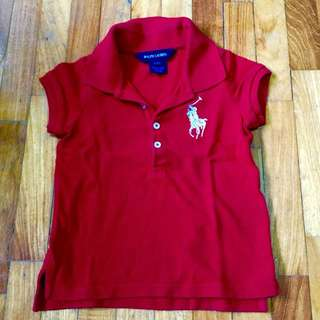 Ralph Lauren Preloved polo Tshirt ( Girls 2T)