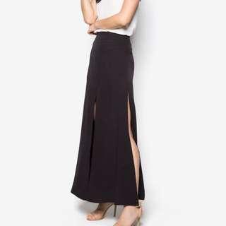 Side Slit Black Skirt