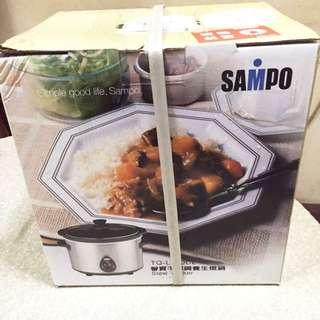 SAMPO聲寶【4公升】不鏽鋼養生燉鍋