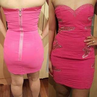 Lipsy Bandeau Beaded Dress |Size 8