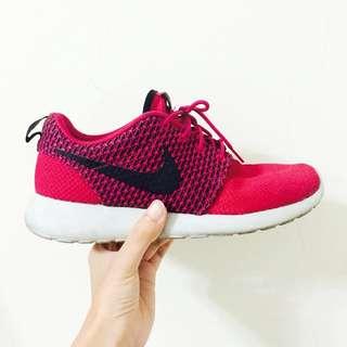 Nike Roshe Run 7.5 女版 桃紅
