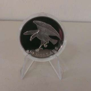 1973 Singapore Silver Proof Eagle Coin