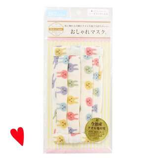 via 日好貨❤️日本製今治產100%棉兔兔口罩