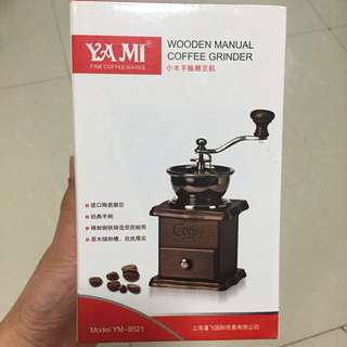 Vintage Wooden Manual Coffee Grinder