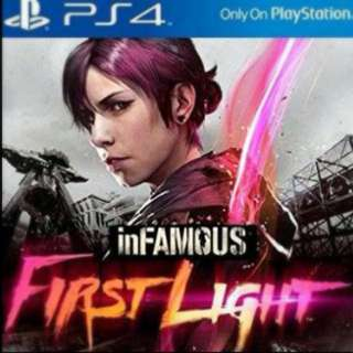 PS 4 inFAMOUS FIRST LIGHT