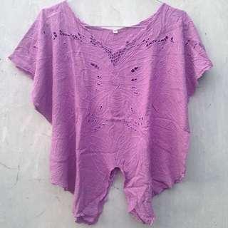 DBaju Kupu-kupu Bali Kaos Epic Tee (Lavender Shirt)