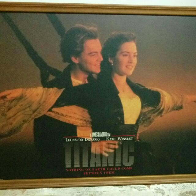 鐵達尼號大型海報掛畫*3組 (便宜出清$99)