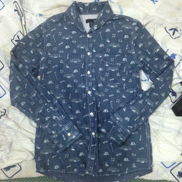 50% 滿版深藍襯衫