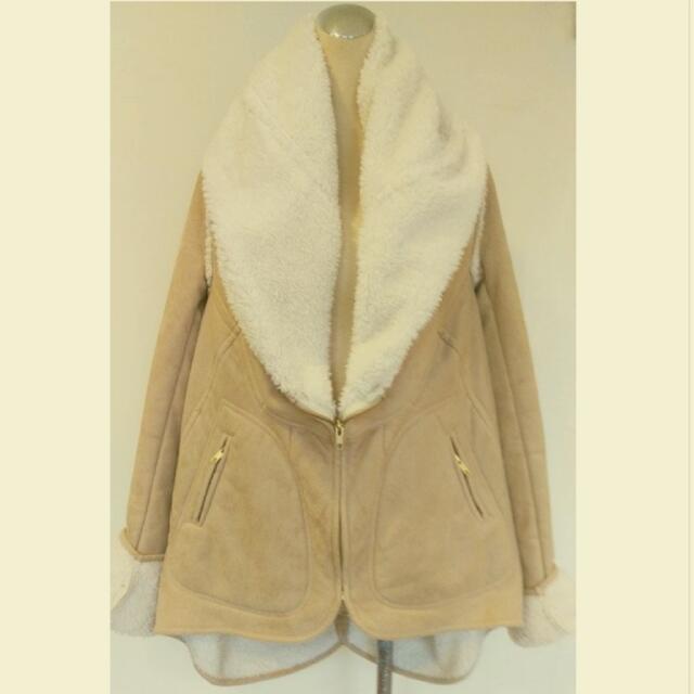 大翻領內鋪綿保暖外套