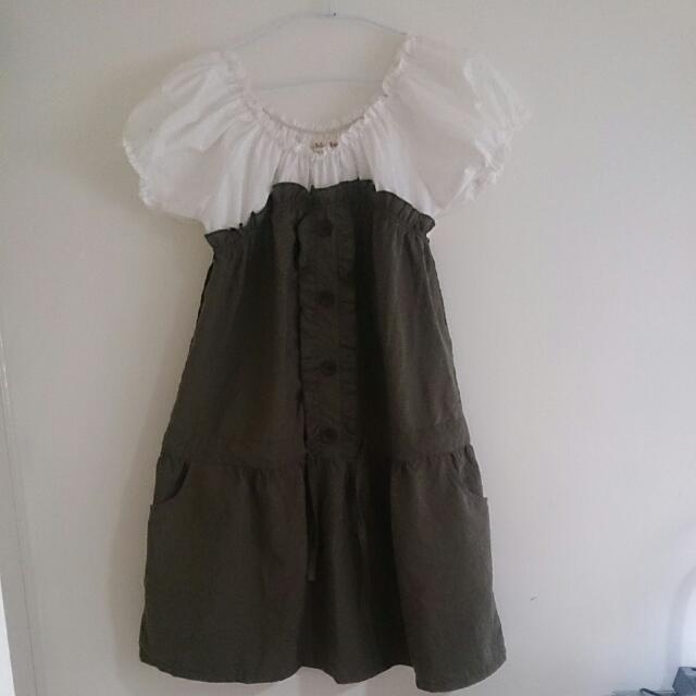 甜美蓬蓬袖洋裝