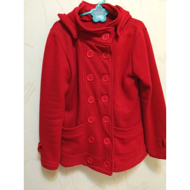 外套(紅)「免運」
