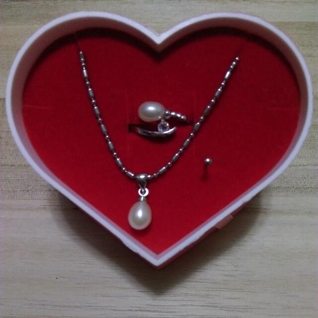珍珠項鍊.戒指