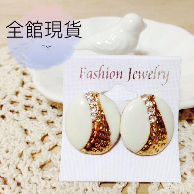 復古貝殼耳環