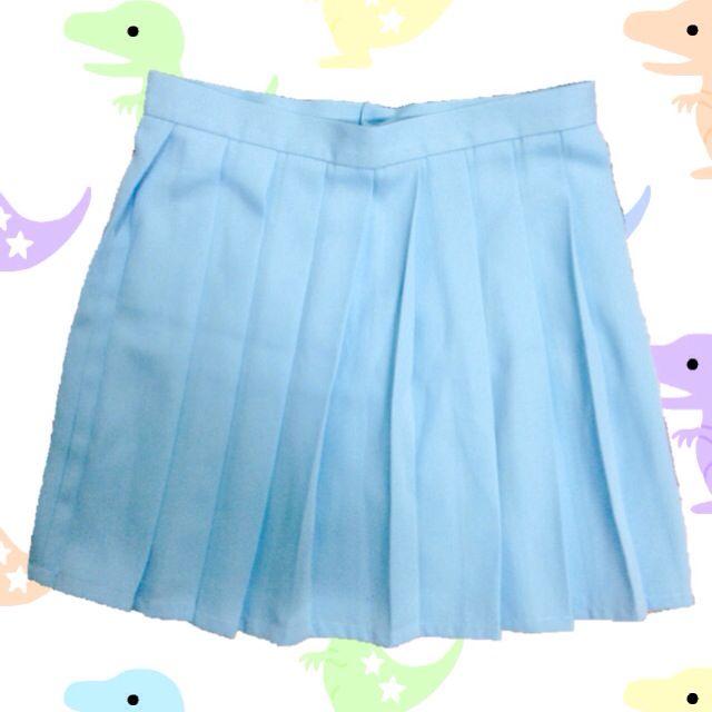 /粉藍百摺裙