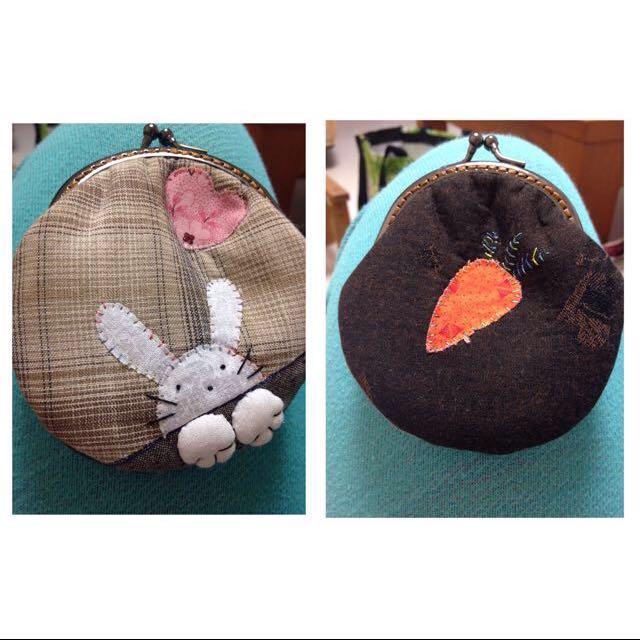 兔子手工零錢包
