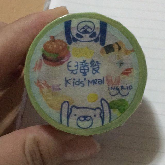 鄧小熊 兒童餐紙膠帶