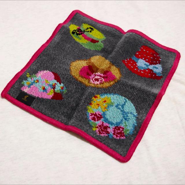 日本帶回 小方巾 手帕 手巾 提花毛巾 淑女 帽子 日本製作