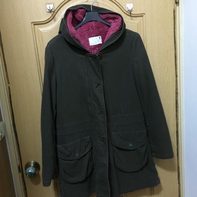 A La Sha 軍綠色大衣外套