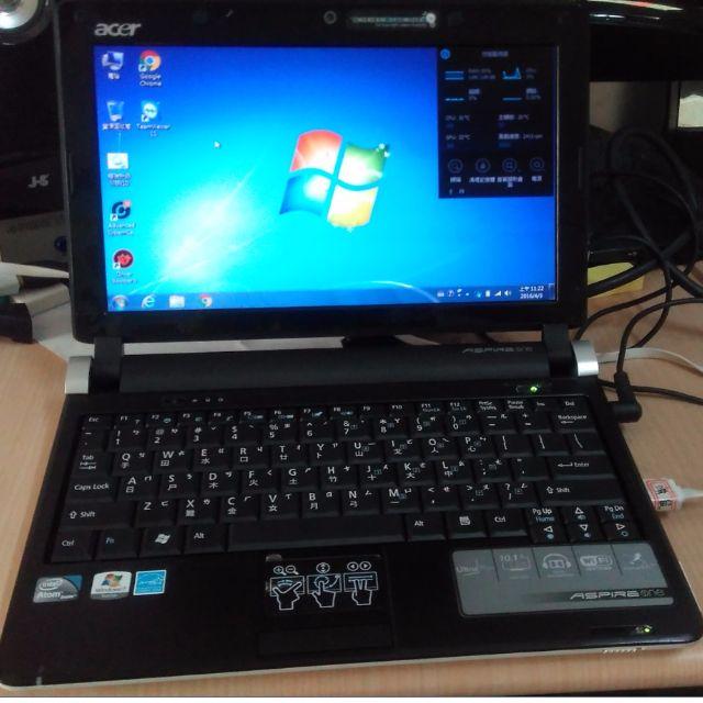 ACER Aspie one KAV60 2G記憶體 N280 CPU 小筆電 文書機 附系統還原