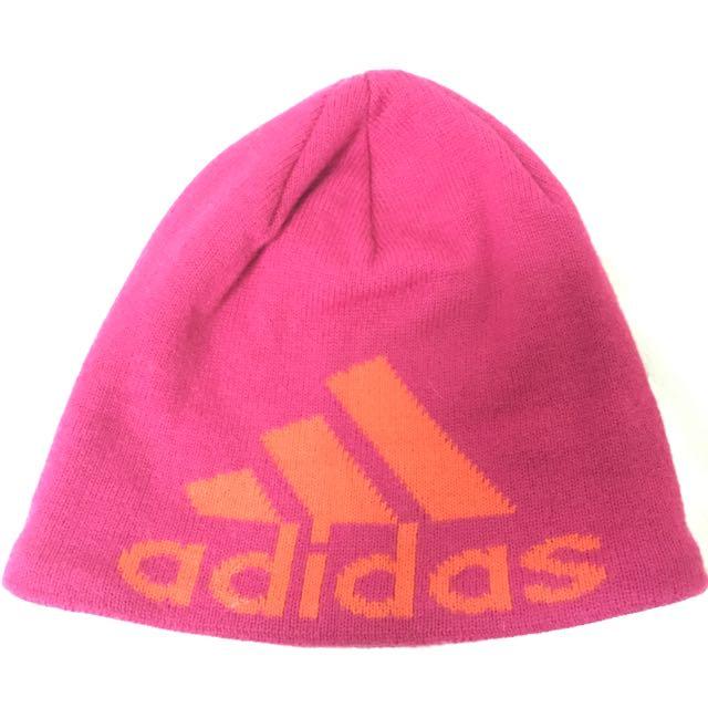 Adidas.Nike 桃色毛帽