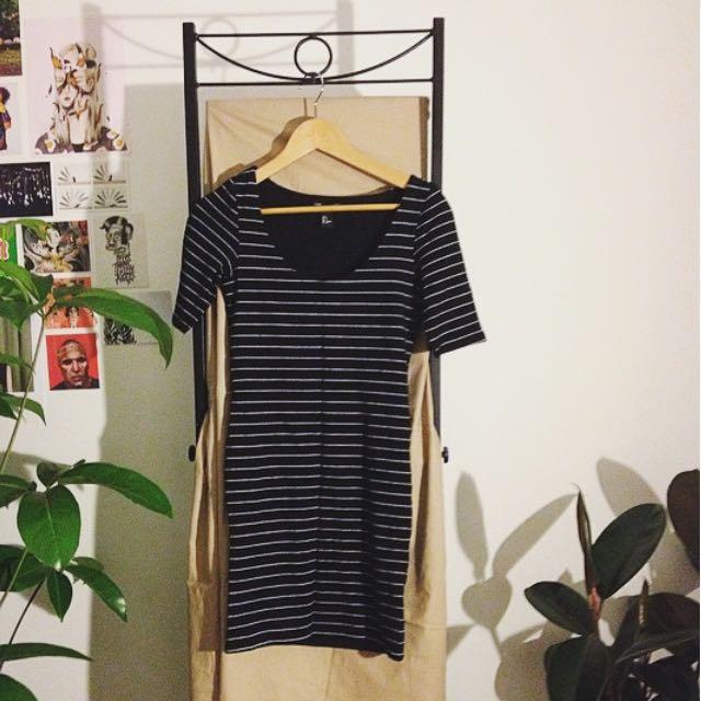 Body Con 3/4 Sleeve Dress