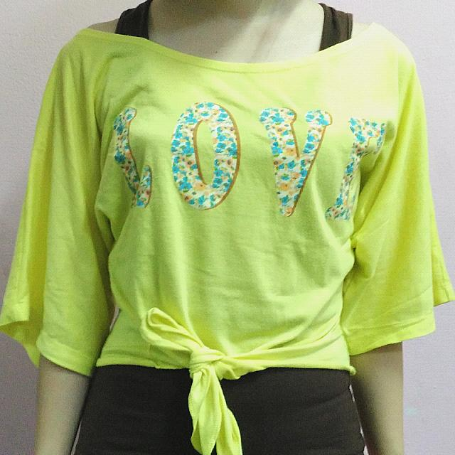 Color Box Oversized Love Top