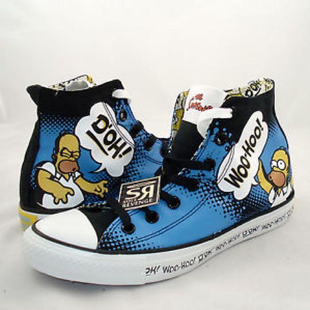 ad4f2150ec86 Converse Special Edition Homer Simpson Shoes